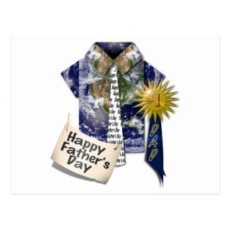Dads Favorite Earth Shirt For Father's Day Postcard