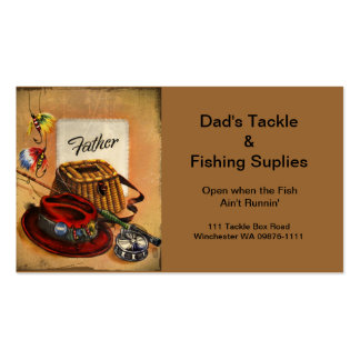 Dad's Fishing Tackle and Bait Business Cards