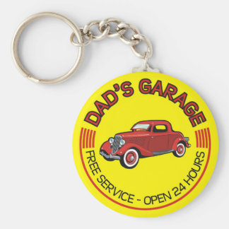 Dad's Garage for father who has car workshop Key Ring
