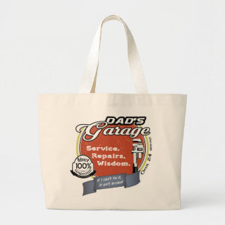 Dad's Garage Wisdom Large Tote Bag