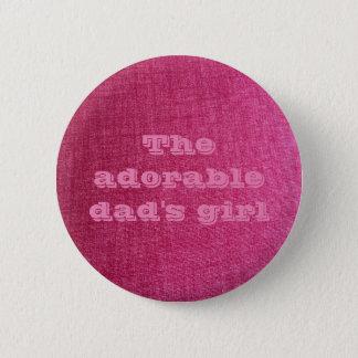 dad's girl pink pin