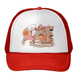 Dad's Grill Retro Father's Day Hat