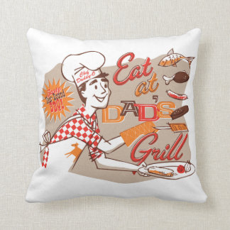 Dad's Grill Retro Pillow