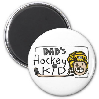 Dad's Hockey Kid Magnet