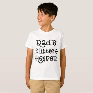 Dad's Little Helper Cute Hand Lettered Script T-Shirt