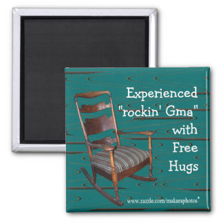 Dad's Ol Rocker Magnet-customize any occasion Square Magnet