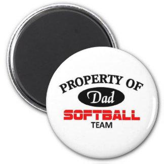 Dads softball team 6 cm round magnet