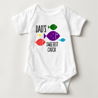 Dad's Sweetest Catch Baby Bodysuit