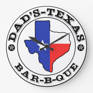 Dad's Texas Barbecue by Mini Brothers Wallclocks