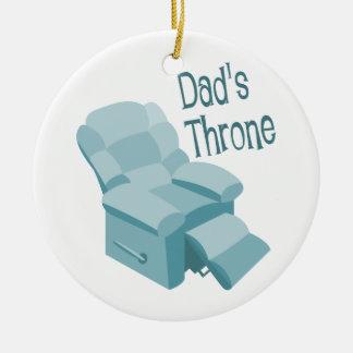 Dad's Throne Ceramic Ornament