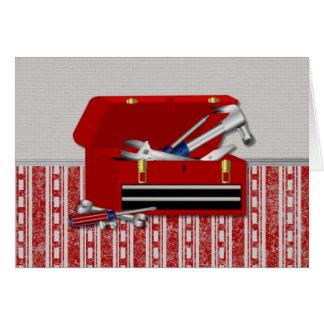 Dad's Toolbox (4) Greeting Card