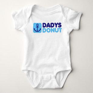 Dadys Doughnut baby creeper blue