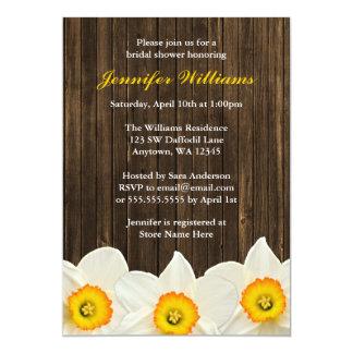 Daffodil Barn Wood Bridal Shower 13 Cm X 18 Cm Invitation Card