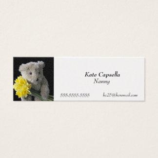 Daffodil bear bookmark business card