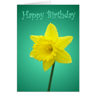 Daffodil Birthday Card - II