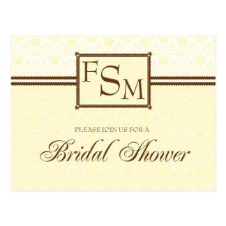 Daffodil Brown Bridal Shower Postcard