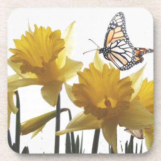 Daffodil Butterfly Cork Coaster