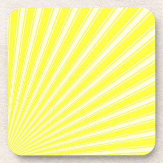 Daffodil Color Stripe Funky Pattern Coaster