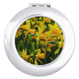 Daffodil Family Compact Mirror