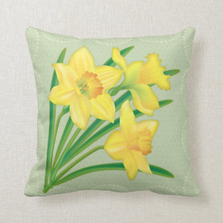 Daffodil floral pillow