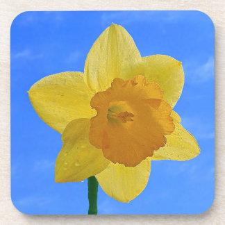 Daffodil Flower Drink Cork Coaster