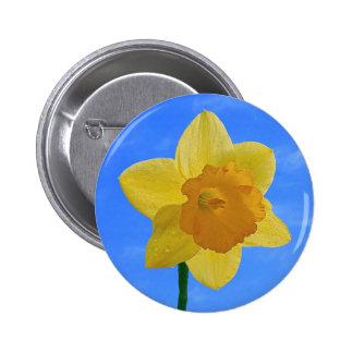 Daffodil Flower Spring Season Button