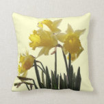 Daffodil Flowers Pillow