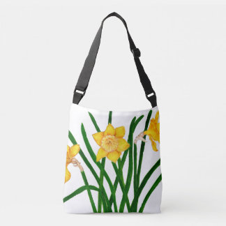 Daffodil Flowers Watercolour Painting Artwork Crossbody Bag