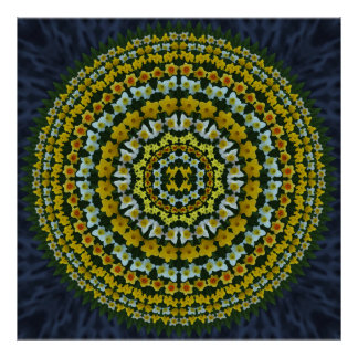 Daffodil Mandala Poster