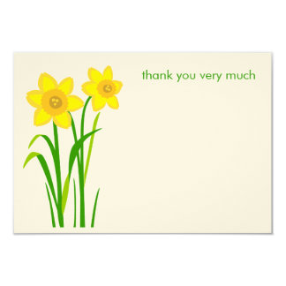 Daffodil simple modern thank you cards
