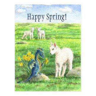 Daffodil Spring Dragon postcard