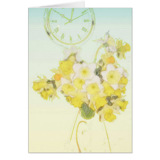 Daffodil Time Greetings Greeting Card