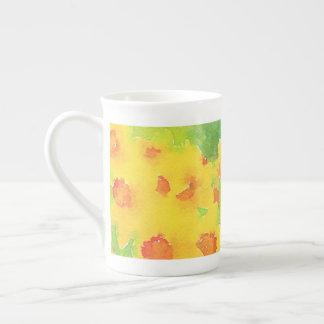 Daffodil watercolor floral  Bone China Mug