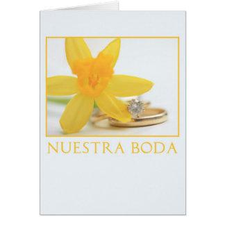 Daffodil wedding invitation spanish
