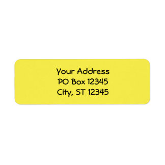 Daffodil Yellow Return Address Label
