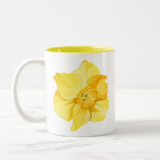 Daffodil Yellow Short-Trumpet Spring Flower Two-Tone Coffee Mug