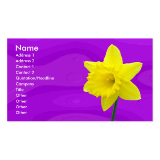 Daffodill Double-Sided Standard Business Cards (Pack Of 100)