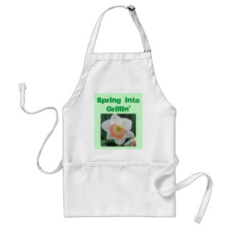 daffodils2, Spring into Grillin' Adult Apron