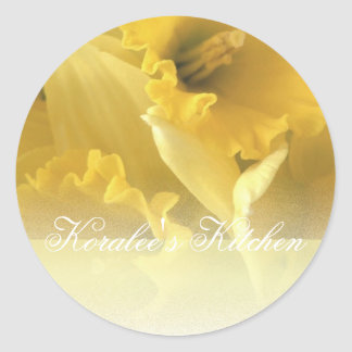 Daffodils 1 spice jar labels