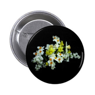 Daffodils and Lilacs 6 Cm Round Badge