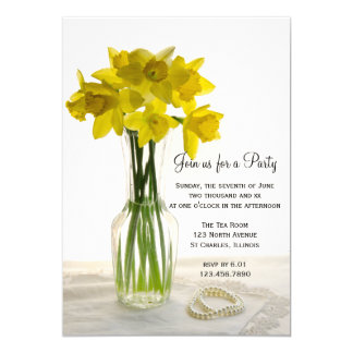 Daffodils and Pearls General Party Invitation
