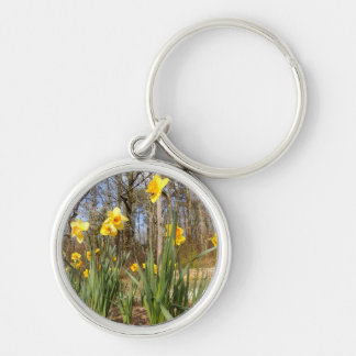 Daffodils at Easter Key Ring