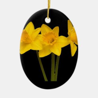 """Daffodils"" Ceramic Oval Decoration"