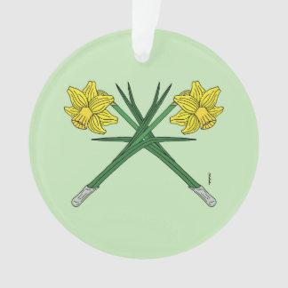 Daffodils Crossed Ornament