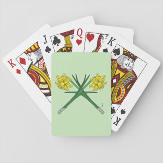 Daffodils Crossed Playing Cards