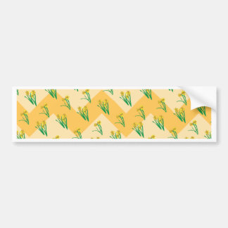 Daffodils Pattern Bumper Sticker