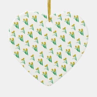 Daffodils Pattern Ceramic Ornament