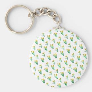 Daffodils Pattern Key Ring
