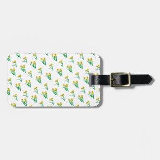 Daffodils Pattern Luggage Tag