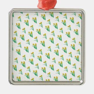 Daffodils Pattern Metal Ornament